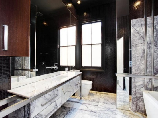 There Are Kinds Of Marble Tiles That Works For Monochrome Bathrooms.