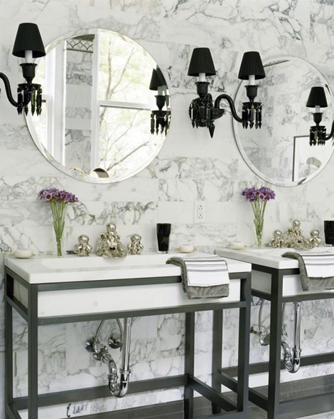 71 cool black and white bathroom design ideas digsdigs for Arredamento stile parigino