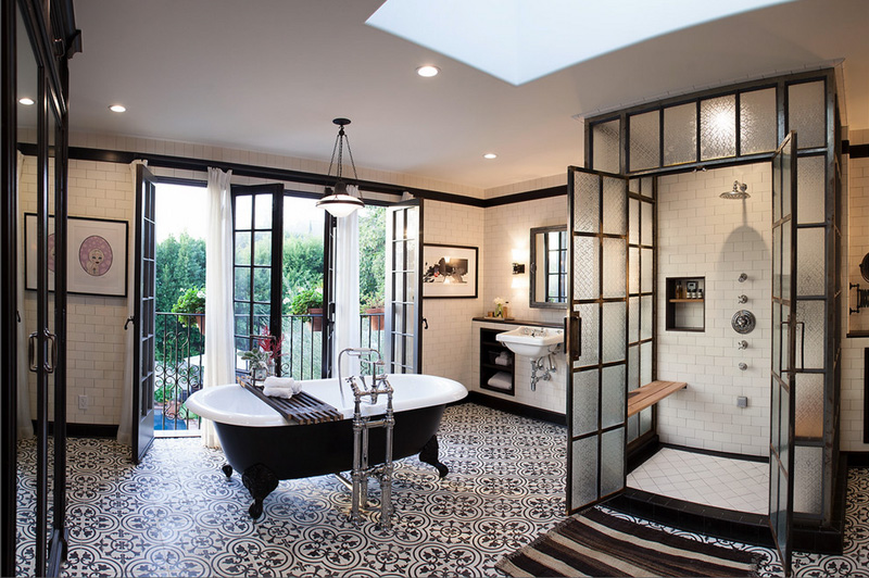 black and white bathroom design amazing black and white bathroom design with a retro vibe 23173
