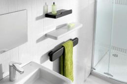 Black And White Ceramic Bathroom Accessories