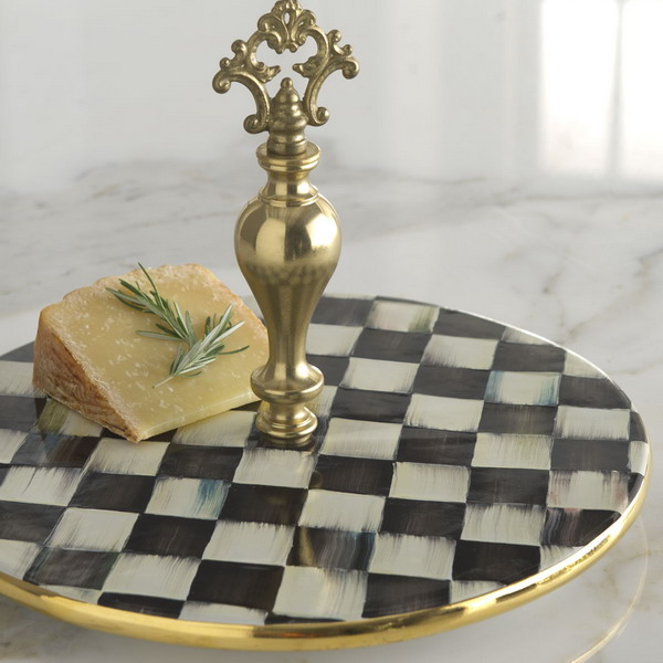 Black And White Courtly Check Tableware And Textiles Collection
