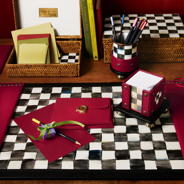 Black And White Courtly Check Tableware And Textile ...