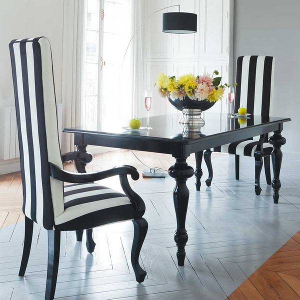 21 black and white traditional dining areas digsdigs 25 best ideas about long dining tables on pinterest