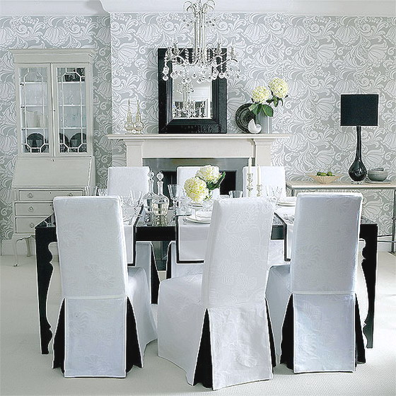 Dining Rooms Black And White Interior Classic Dining Room Designs