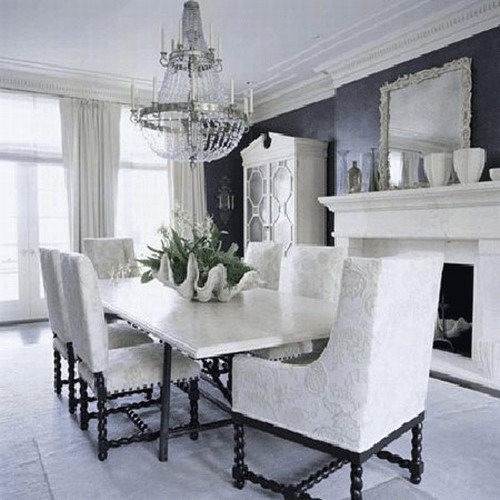 21 black and white traditional dining areas - digsdigs