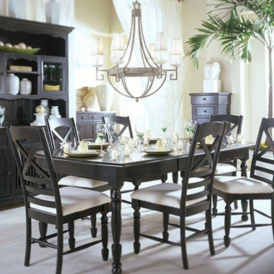 black  white traditional dining areas digsdigs