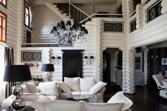 Black-And-White House In A Mix Of Styles