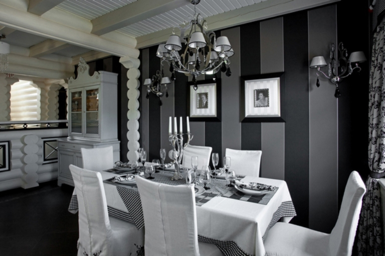 Black And White House In A Mix Of Styles DigsDigs