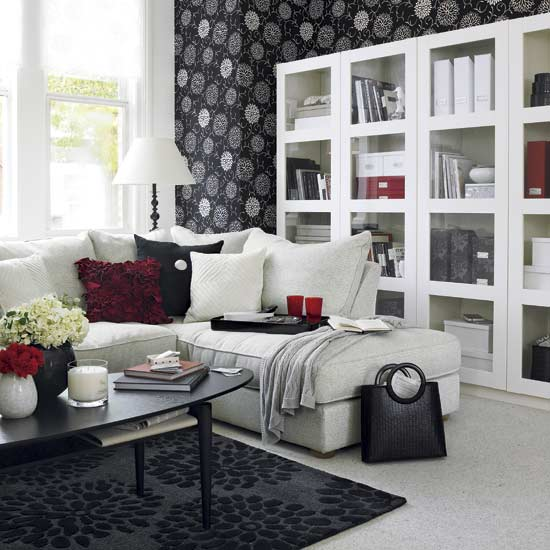 Japanese Living Room Design Ideas: 21 Black And White Traditional Living Rooms