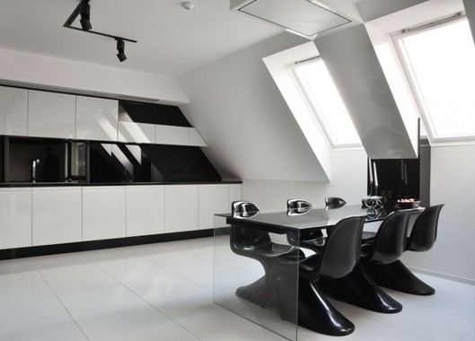 Strictly Minimalist, Black And White Apartment Interior Design