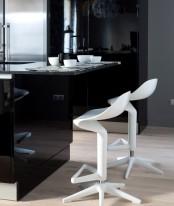 Black And White Loft Design