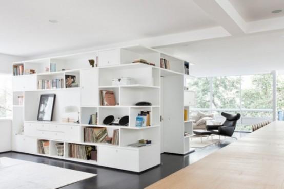 terrific black white minimalist apartment   Black And White Minimalist Apartment With Warm Wood ...