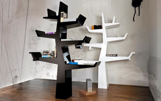 5 Cool and Creative Tree-Like Bookshelves