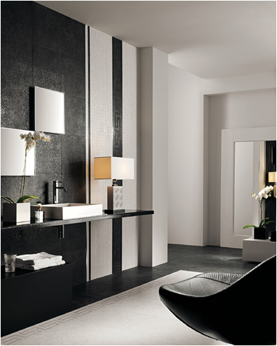 black and white tile bathroom. Black And White Tiles By