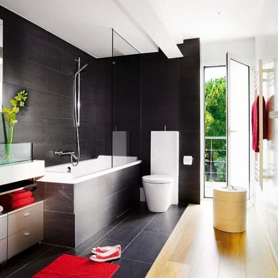 Black Bathroom Design Idea That Isn't Dark and Creepy