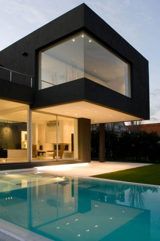 The Black House For Young Couple Casa Mck Digsdigs