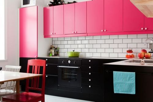 Black Pink Kitchen