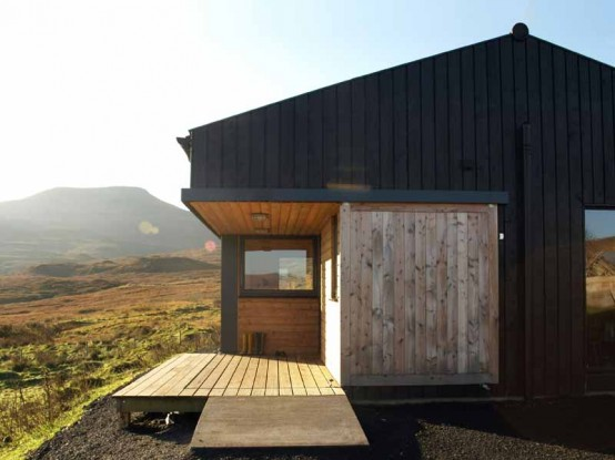 Black Shed Small Budeget House Design