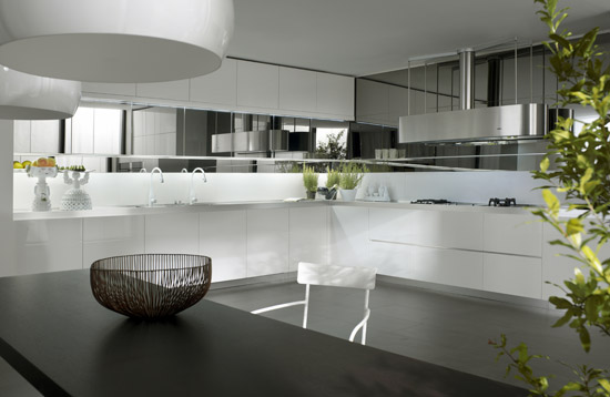 Black White Kitchen Design Longline Salvarani