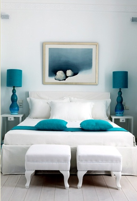 Blue And Turquoise Accents In Bedroom Designs – 39 Stylish Ideas