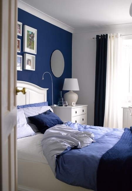 Blue Accent Wall Prepossessing Of Blue Accent Wall Bedroom Photo