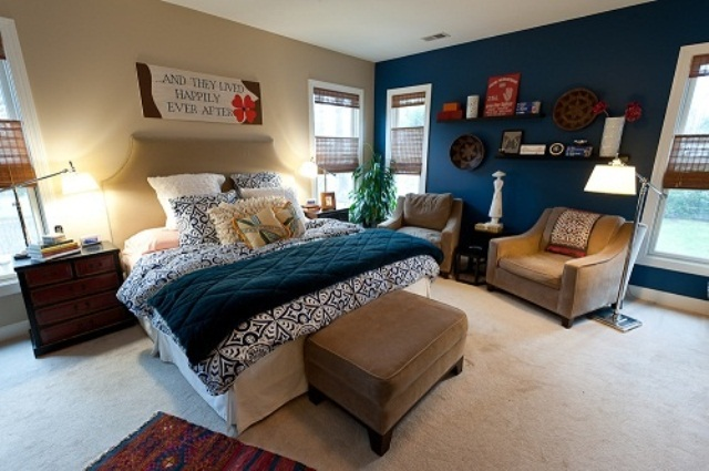 Blue And Turquoise Accents In Bedroom Designs – 39 Stylish ...