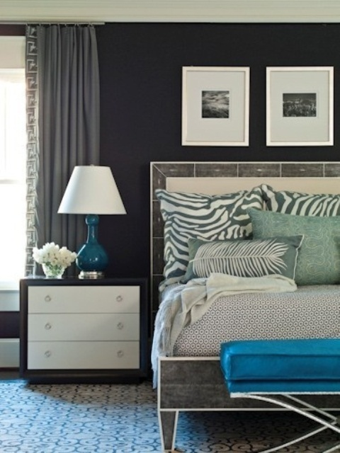 Blue And Turquoise Accents In Bedroom Designs – 39 Stylish Ideas ...