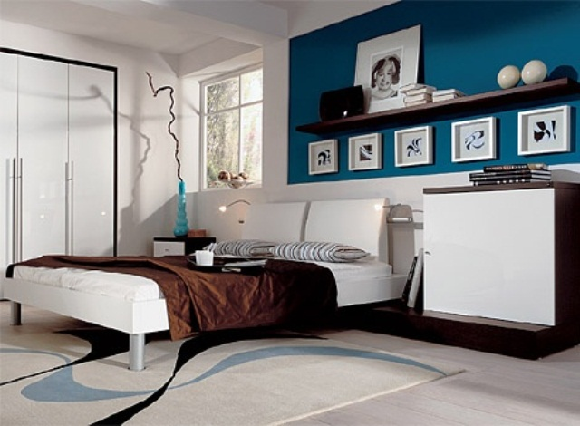 Blue and turquoise accents in bedroom designs 39 stylish for Turquoise bedroom decor
