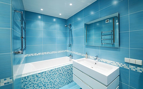 67 cool blue bathroom design ideas digsdigs for Glasfliesen bad