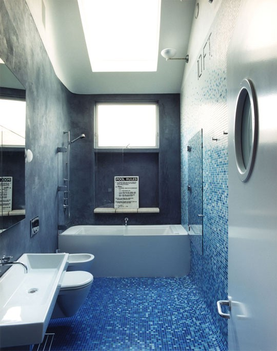 White And Blue Bathroom Ideas Part - 25: Blue Bathroom Design Ideas
