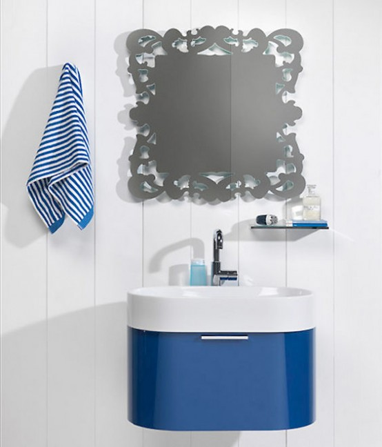 Blue Bathroom Furniture Regia