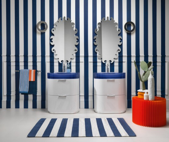 Blue Bathroom Vanities Regia