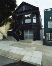 Blue Black Monochrome Victorian House