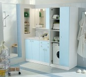 Blue Laundry Room Design