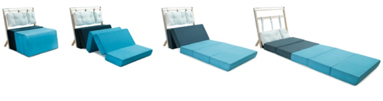 Blue Minmalist Seat And Bed In One