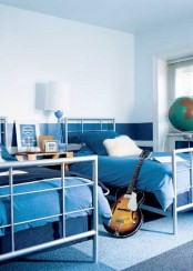 Blue Shared Boys Room