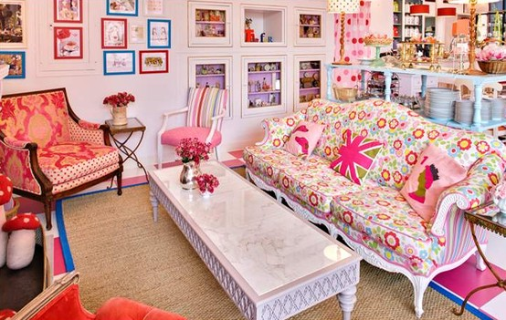 111 bright and colorful living room design ideas digsdigs for Cath kidston style bedroom ideas