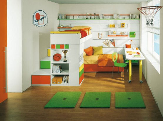 Bright Kids Room Ideas from Sangiorgio Mobili