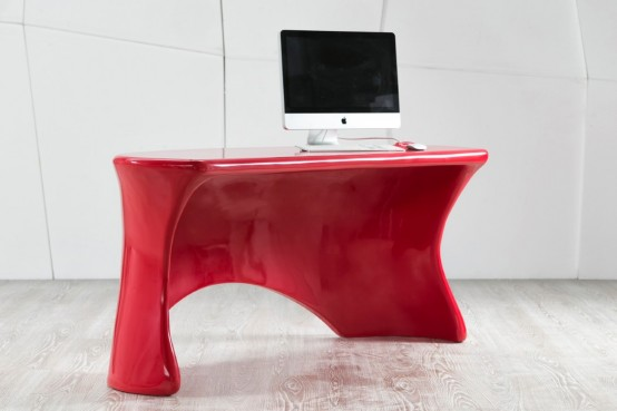 Bold And Sleek Eye-Candy: Red Hot Ely Desk
