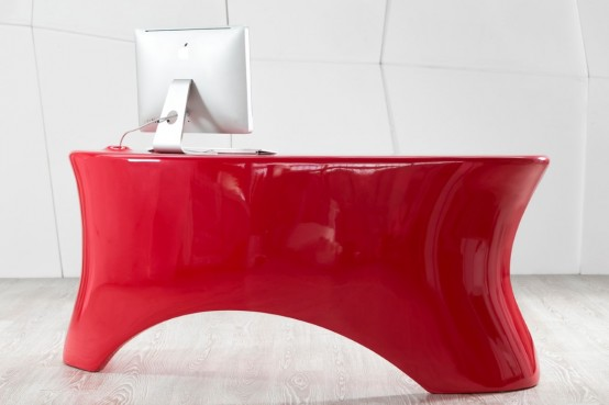 Bold And Sleek Eye Candy Red Hot Ely Desk