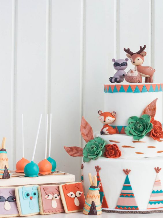 bold animal themed modern baby shower