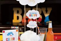 bold decorations for a gender neutral baby shower