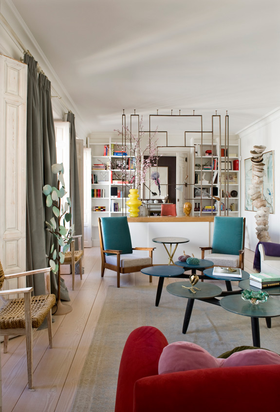 Bold Eclectic Home With Art Deco And Mid Century Modern Touches