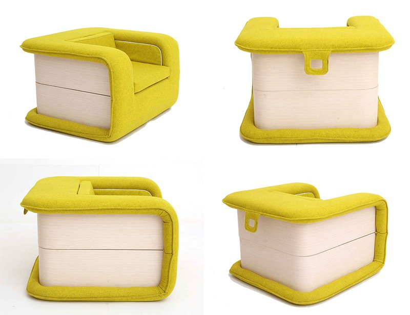 Bold Flop Armchair That Folds Out Into A Bed