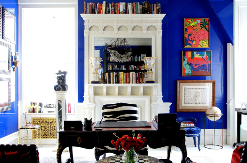 Picture Of bold lavish home with lots of colors and patterns  1