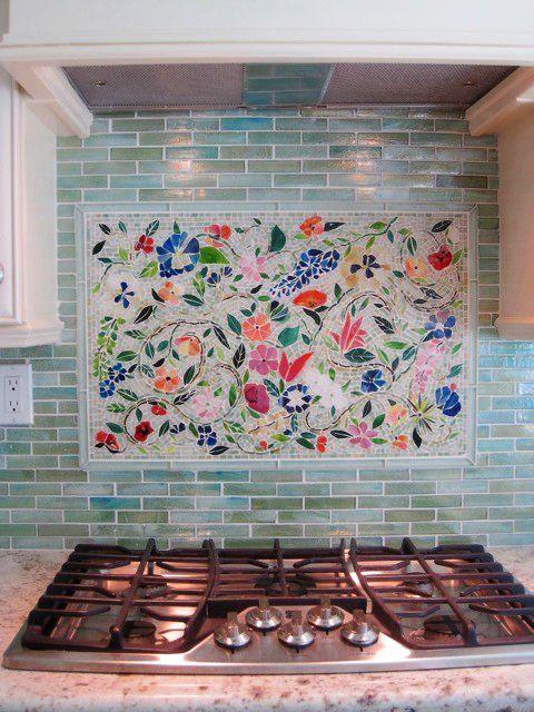 Kitchen Backsplash Mosaic 26 bold mosaic kitchen backsplashes to get inspired - digsdigs