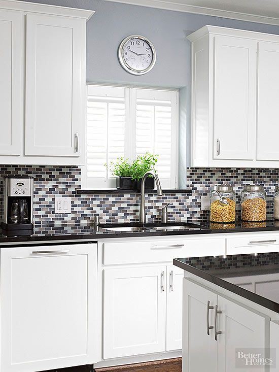 26 bold mosaic kitchen backsplashes to get inspired digsdigs for Kitchen wall colors with white cabinets