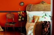 Bold Orange Bedroom