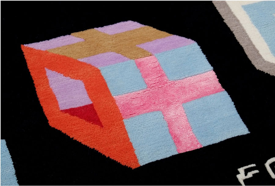 Picture Of bold surrealistic rug collection of the finest materials  3