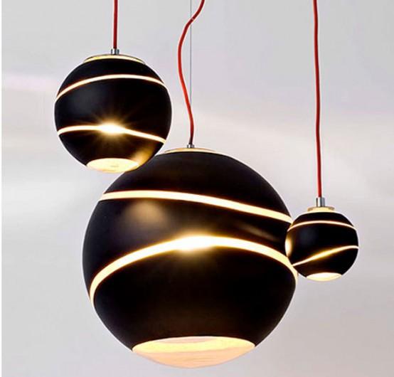 Bond Pendant Lights Reminding Of Meteors